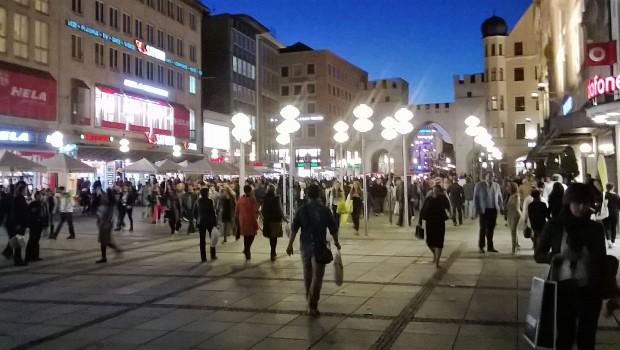 munich shopping evening