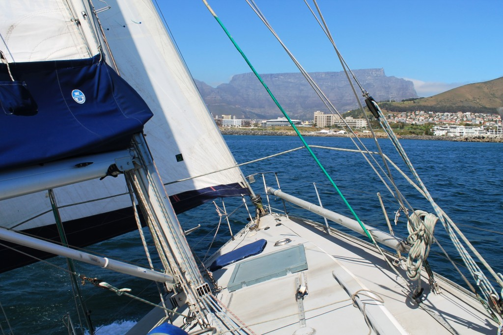 yacht heeling cape town